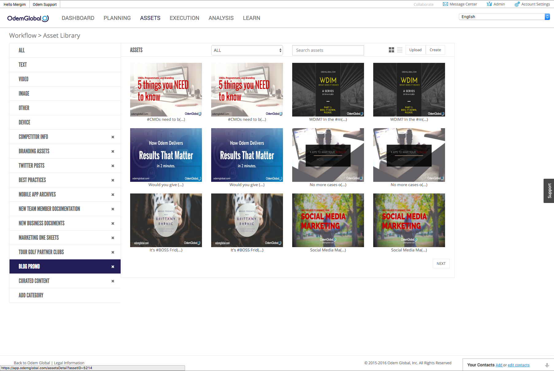 odem all-in-one marketing dashboard