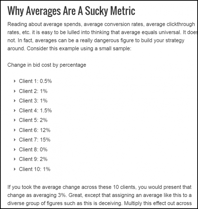 PPC averages ads