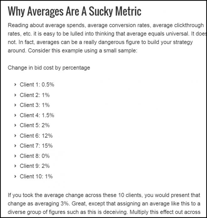 PPC averages ads