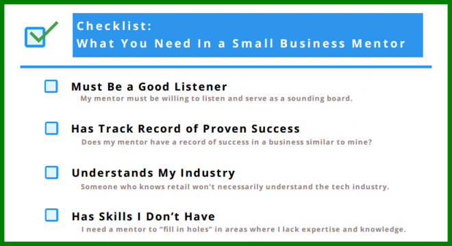 checklist for finding a small business mentor 3