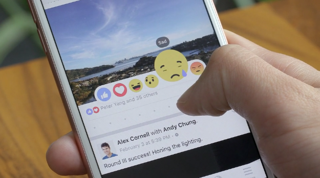 facebook reactions sad