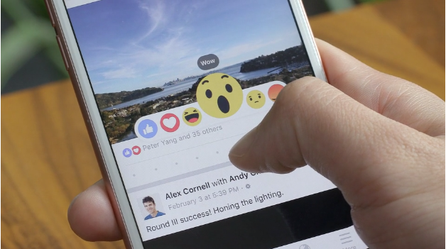 facebook reactions wow