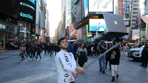 macbook selfie stick craziest product