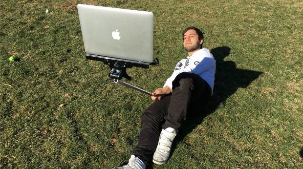 macbook selfie stick craziest product