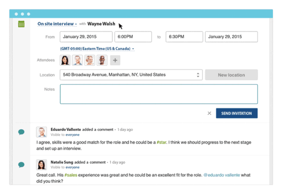 Workable candidate interview dashboard