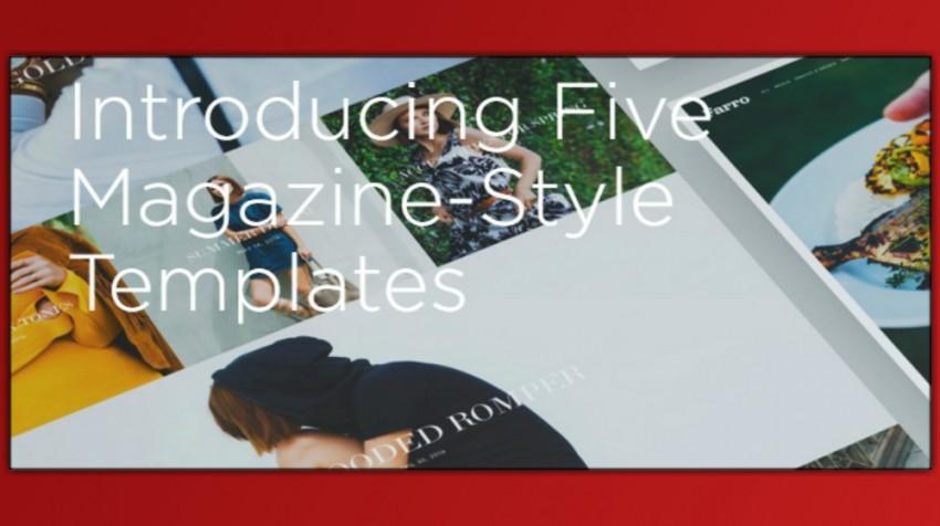 magazine-style templates