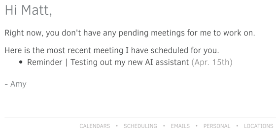Personal Assistant x.ai
