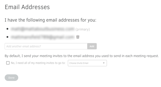 email set-up with AI Powered Personal Assistant x.ai