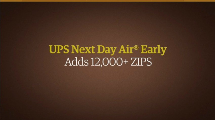 UPS Next Day Air Early