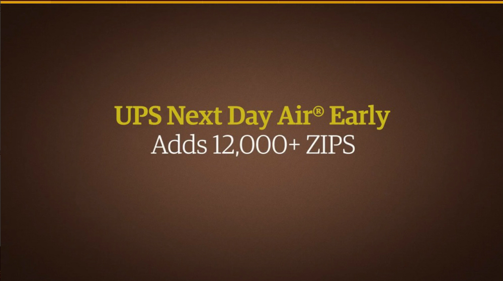 UPS Renames Next Day Air, Adds Over 12,000 Zip Codes - Small