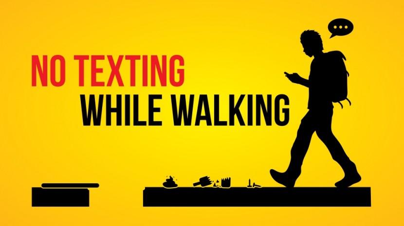 no texting while walking