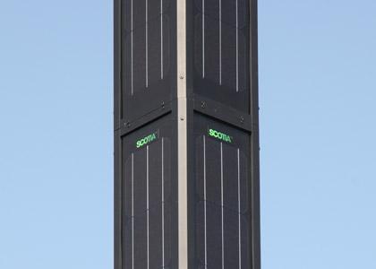 solar-powered streetlight the Monopole