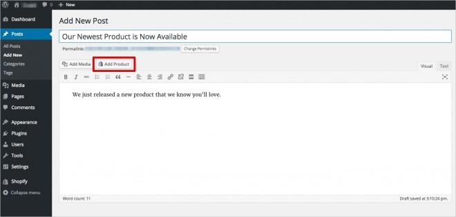 shopify ecommerce plugin dashboard