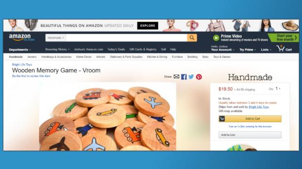 New Handmade at Amazon Categories