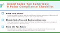 sales tax compliance checklist