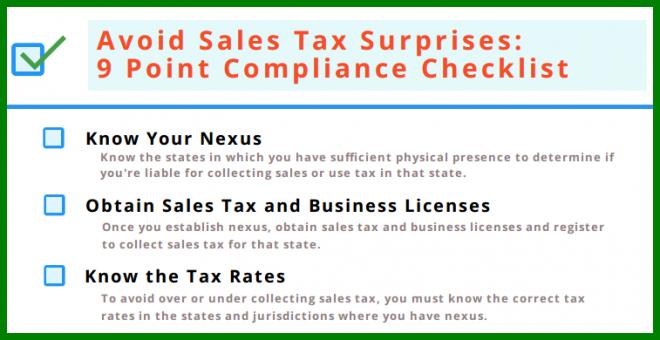 sales compliance checklist