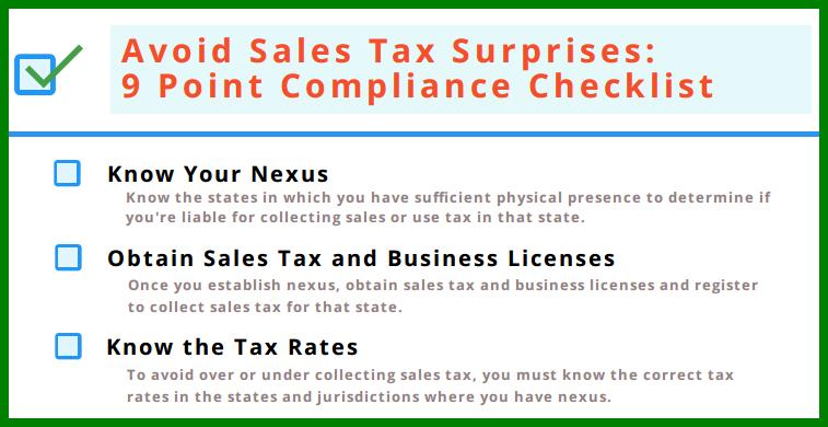 sales tax compliance checklist