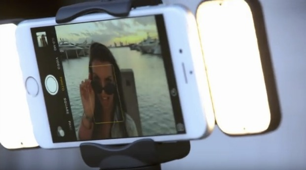 automated selfie stick grabs attention