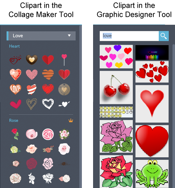Free Image Creation Software, FotoJet - Clipart Difference