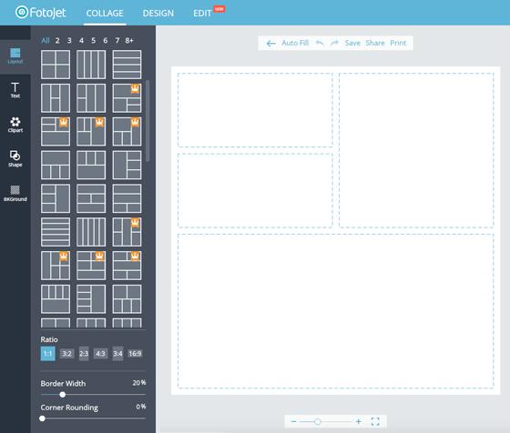 Free Image Creation Software, FotoJet - Collage Maker