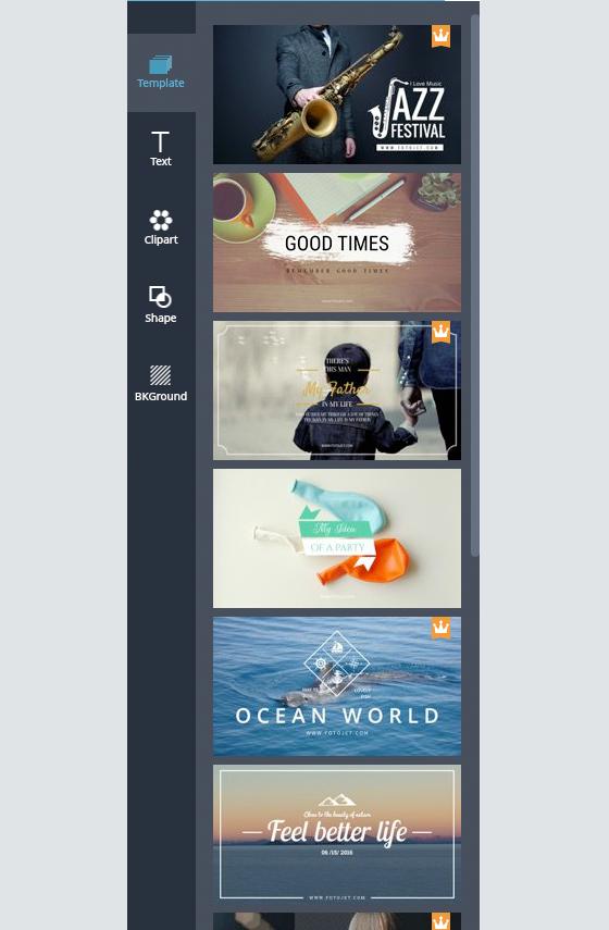 Free Image Creation Software, FotoJet - Graphic Designer Templates