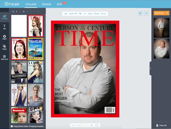 Free Image Creation Software, FotoJet - Magazine Cover Walkthrough - Step 3