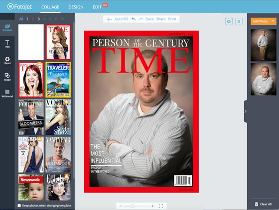 Free Image Creation Software, FotoJet - Magazine Cover Walkthrough - Step 4