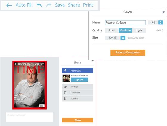 Free Image Creation Software, FotoJet - Magazine Cover Walkthrough - Step 5