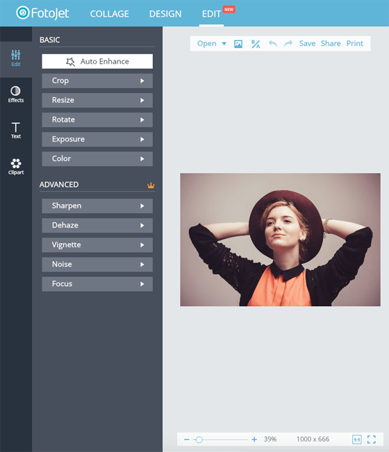 Free Image Creation Software, FotoJet - Photo Editor