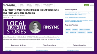 Small Business Resource - Alignable Main Street Insights