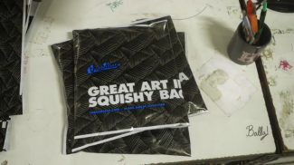 art in a squishy bag