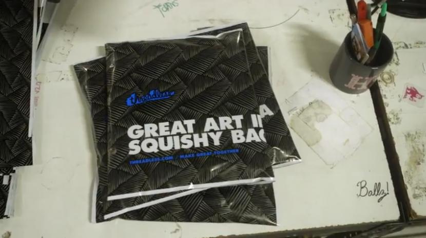 art in a squishy bag