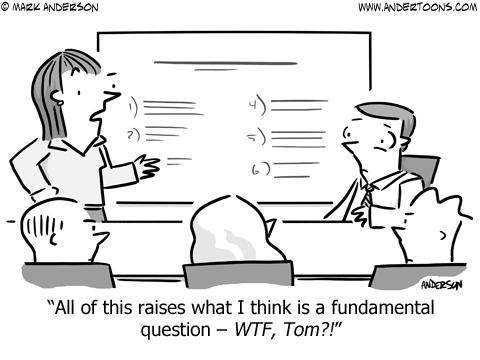 Swearing Business Cartoon