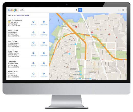 expanded local search ads on Google Maps