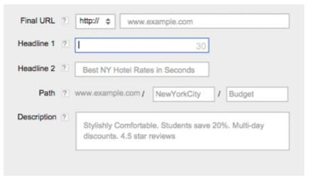 Google's Expanded Text Ads - AdWords Interface