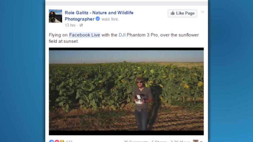 Facebook continuous live video