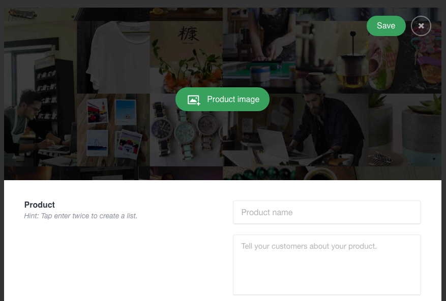 Ecommerce landing page - Product Creation
