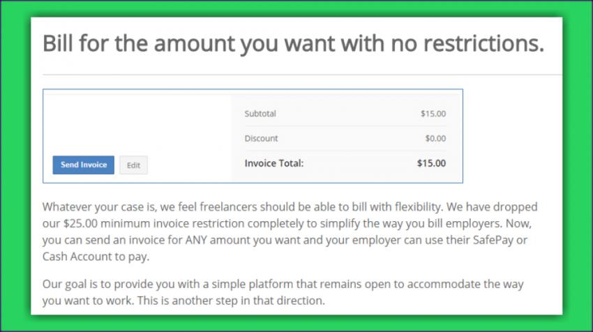 Guru Drops $25.00 Minimum Invoice Requirement