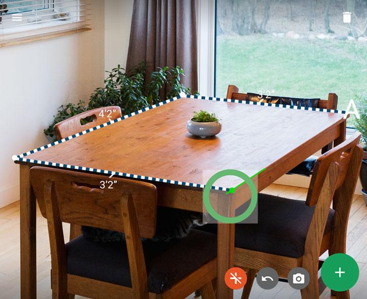 Mobile Augmented Reality Lenovo Phab 2 Pro - Measure