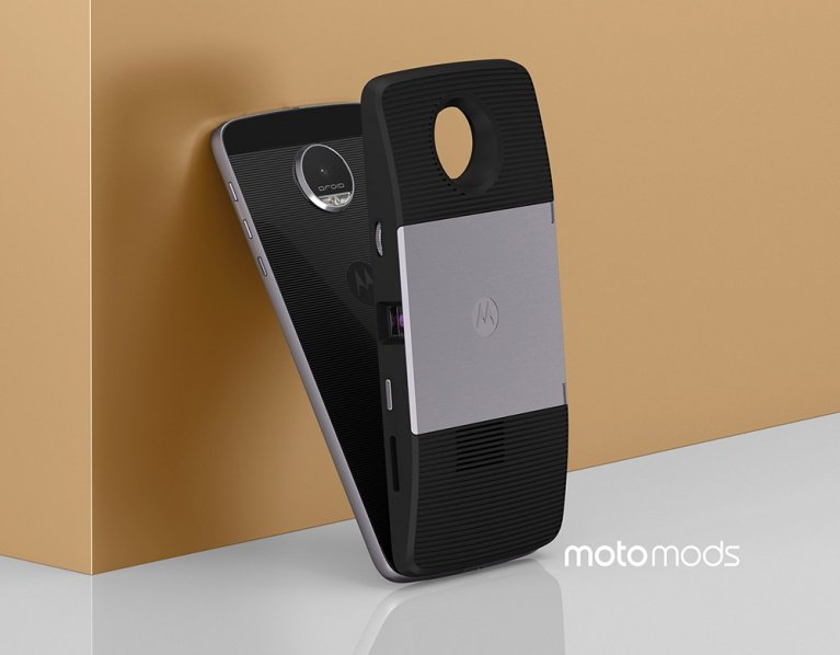 Moto Z Modular Cell Phone - Insta-Share Projector