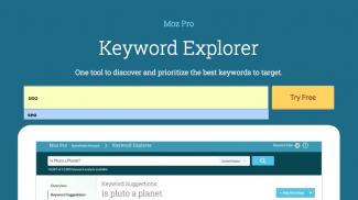 Keywords Tool - Moz Keyword Explorer