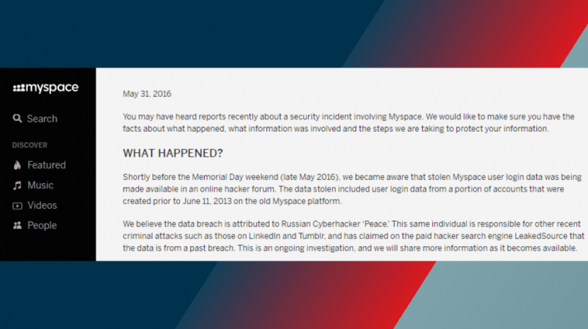 MySpace Hacked -- That's Right, MySpace -- for User Info