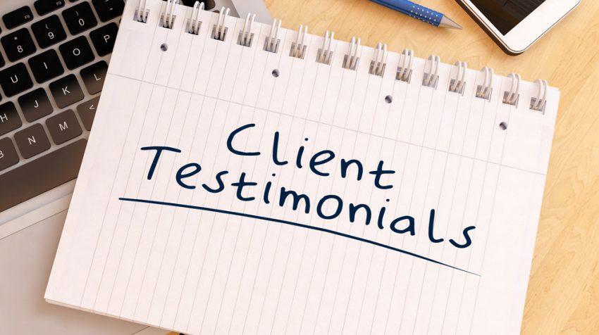use customer testimonials