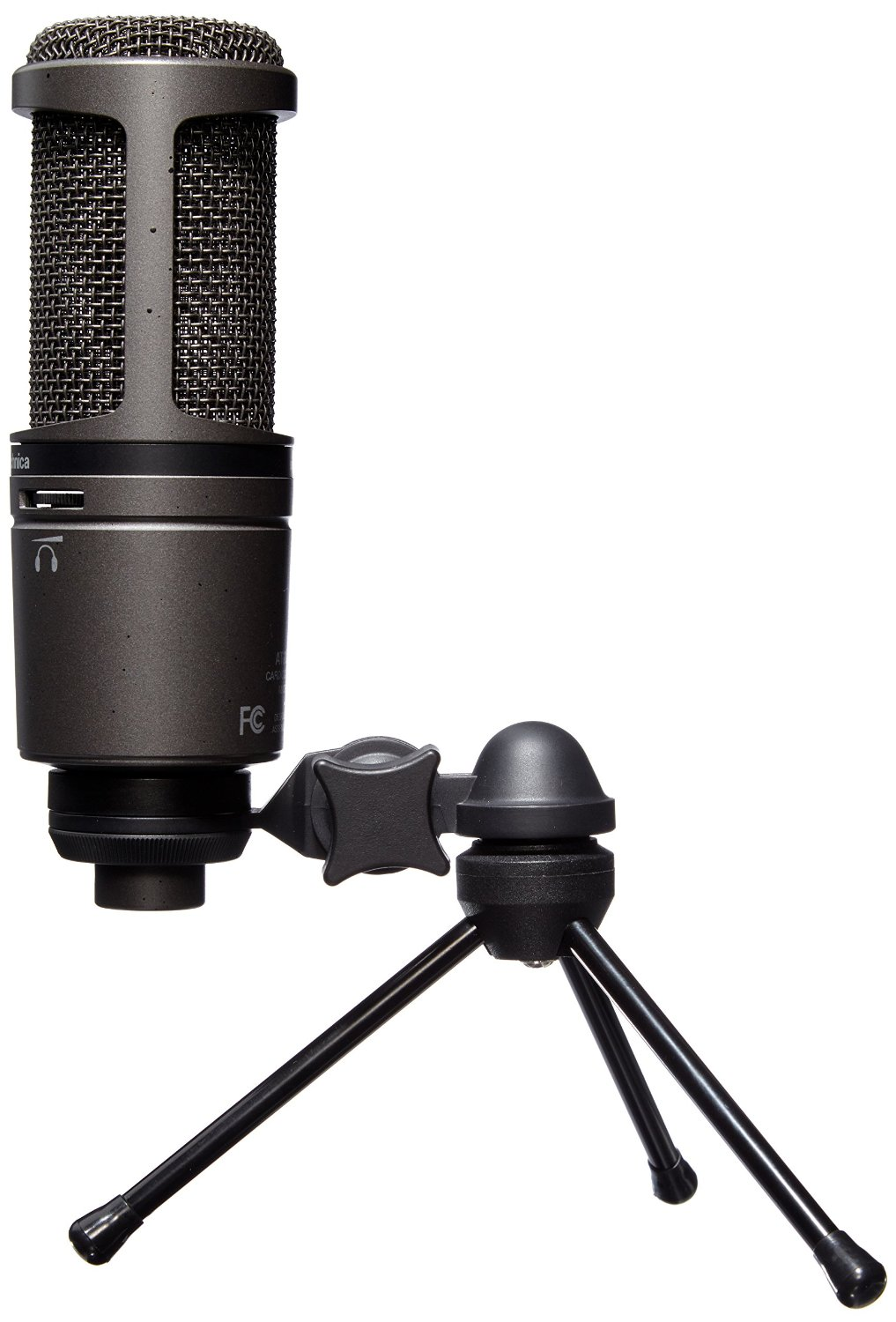 Best Budget Microphones for Podcasting - Audio-Technica AT2020USB PLUS Cardioid Condenser USB Microphone