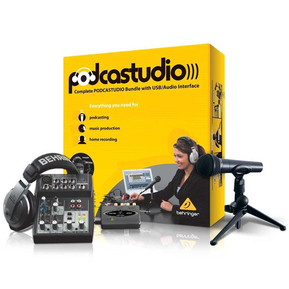 Best Budget Microphones - Get a Top 20 Podcast Microphone for Under $200 - BEHRINGER PODCASTUDIO USB