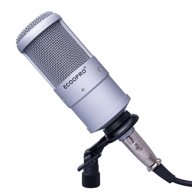 Best Budget Microphones - Get a Top 20 Podcast Microphone for Under $200 - ECOOPRO Studio Condenser Recording Microphone