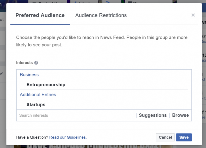 Facebook Organic Reach is NOT Dead -- Set Preferred Audience