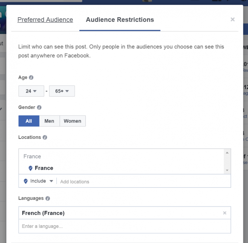 Facebook Organic Reach is NOT Dead -- Restrict Preferred Audience