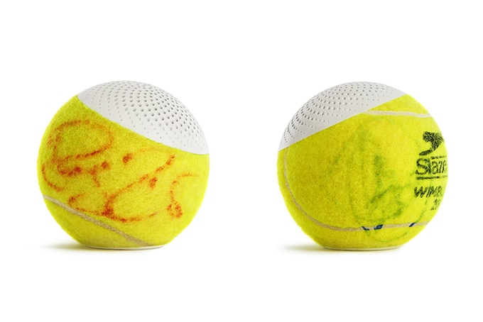 HearO Tennis Ball Speaker Signed by Tennis Champs