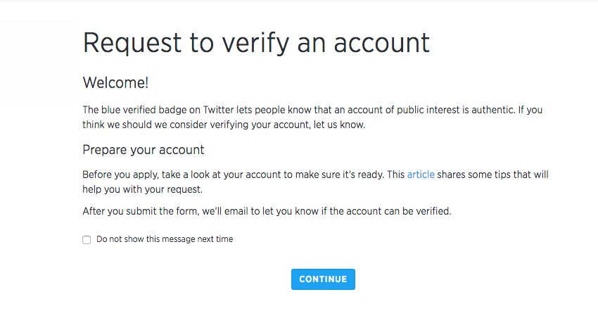 Will be verified